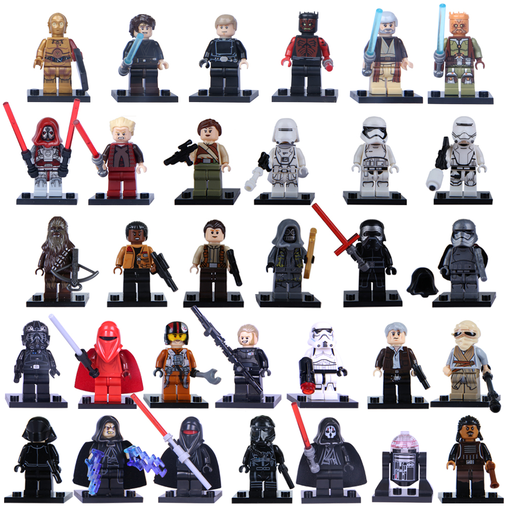 Single Sale  Jedi Han Yoda Darth Vader Obi Wan Models Mini Toys  Building Blocks  Figures  For Children