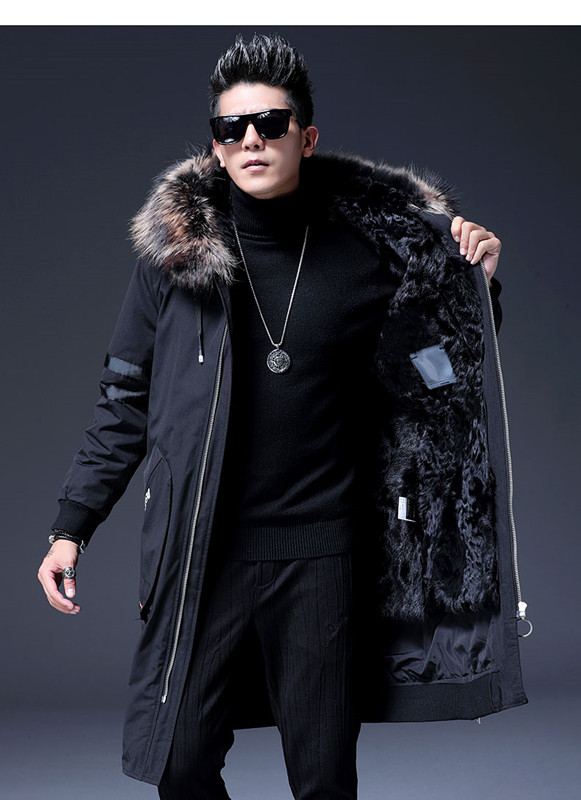 Hooded-Fur-Coat Winter Warm Lining Snow Mountain-Wool Trend Men's