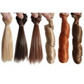 3PCS Straight+3PCS Curly DIY BJD Wigs Hair Synthetic Hair Doll 15CM