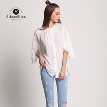 White Blouse Shirt Women Vintage 2017 High Quality Brand Luxury Blouse Shirt