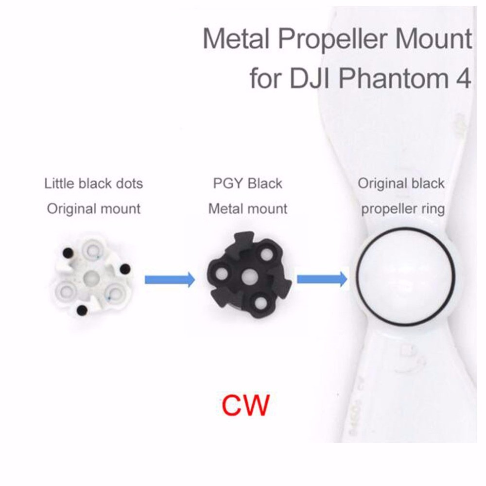 4pcs-DJI-phantom-4-Metal-Propeller-Bracket-Mount-for-Phantom4-Silve-black-Holder-Adapter-motor-connector (1)