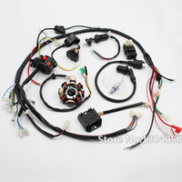 GY6 150cc 200cc 250cc FULL ELECTRICS Stator Wire Harness Loom Magneto Coil CDI Rectifier Solenoid ATV Quad Buggy gokart new