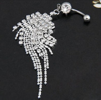 2015 Sale Piercing Navel Wholesale New Plated Tassel Dangle Navel Belly Button Ring Bar Piercing Punk