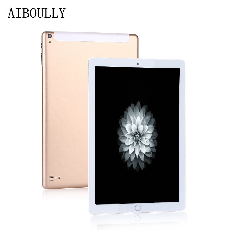 AIBOULLY 10.1 Inch 3G Phone Call Tablet Octa Core 4GB RAM 64GB ROM Android 7.0 HD IPS Screen Dual SIM Camera GPS FM WiFi 9.7''