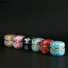 5pcs Japanese style Kitchen Tea Box Jar Storage Holder Sweetmeats Candies Cans Teaware Tea Caddies tin containers storage box