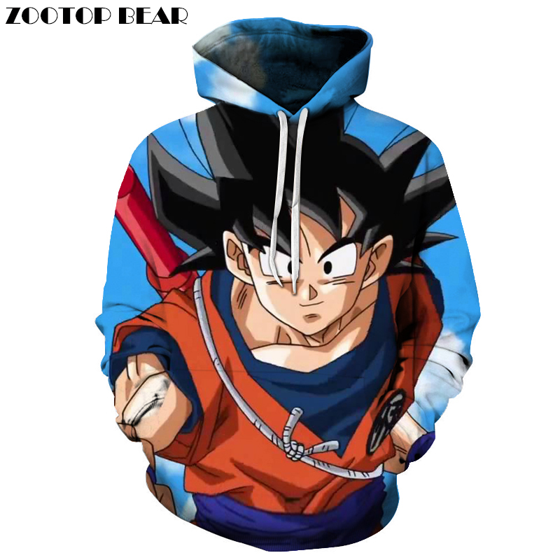 Funny Fashion Autumn Hoodies Streetwear Dragon Ball Anime Band Hoodie Tracksuit Pullover Men Women Streetwear 3D Top DropShip