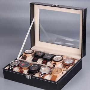 Image 2 - BOBO BIRD boîtier dexposition en cuir PU, boîtier de rangement de montres et de bijoux, 6 fentes 10 fentes