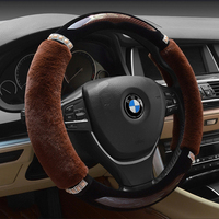 Hot Wheels Fur Steering Wheel Cover 38cm For Vw BMW Ford Mazda Mitsubishi Etc 95 Cars