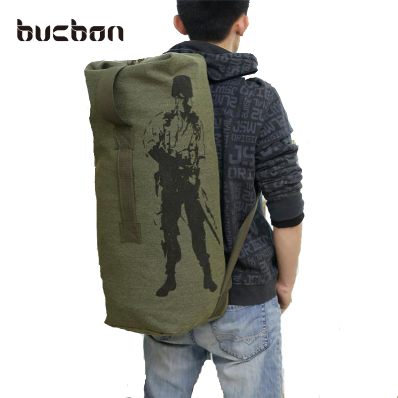 24 33 40L 3 size Sturdy Canvas Tactical Backpack Rucksacks Military Army Bag Men Women Outdoor
