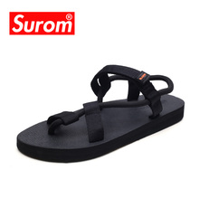 SUROM Man Sandals Bohemia Comfortable Unisex Shoes Beach Gladiator San