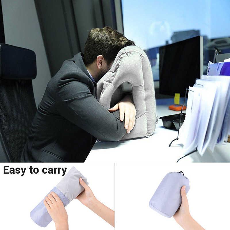1 шт многоцелевой надувной надувная подушка для путешествий самолет офисный стол Nap Подушка поддержка спины Портативный удар шеи Подушка #248215