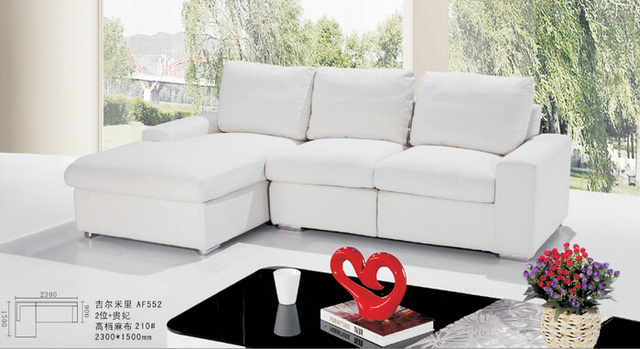 Lizz White Upholstery Fabric Sofa Malaysia Couches Small L Shape