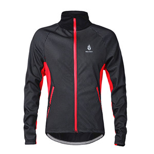 WOSAWE winter Brand  Men Fleece Thermal Windproof Cycling Jacket Windproof Bike Bicycle Coat Clothing  Long Sleeve Jersey  wosawe outdoor sports windproof winter long sleeve cycling jacket unisex fleece thermal mtb riding bike jersey men s coat