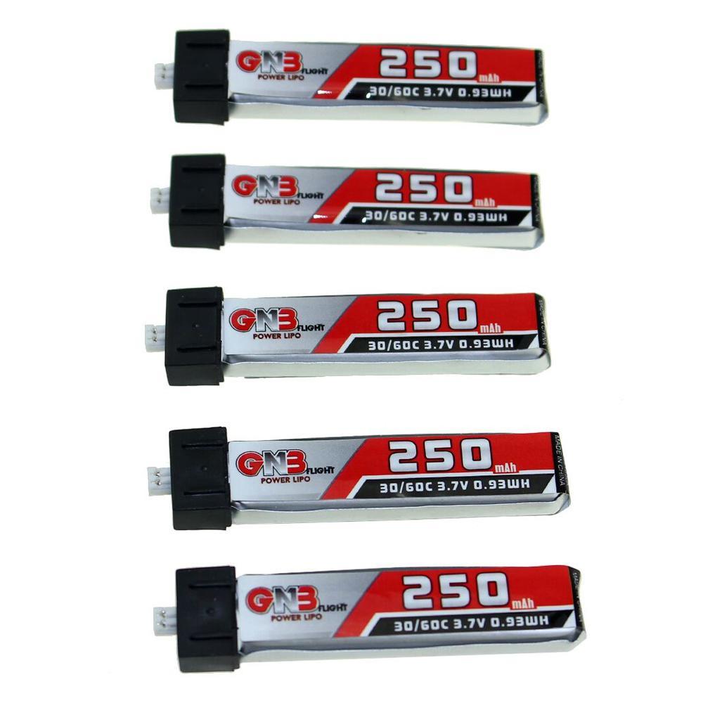 LeadingStar 5 pcs LDARC GAONENG GNB 3.7 v 250 mah 1 s 30C/60C Rechargeable Lipo Batterie pour Lame pour Nano QX CPX Minuscule Cri