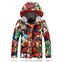 Very Warmly Children Ski Tops New Fashion Boys Windproof Warm Ski Jackets Winter Snow Clothing Outdoor