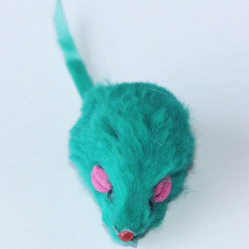 10pcs/lot Rabbit Fur False Mouse Pet Cat Toys Fake Mice Rats Cute ...