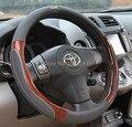 Tampas de roda de direcção do carro de inverno de luxo universalmente 38 cm conjunto Legal especial mão tampa da roda de direcção de couro Genuíno
