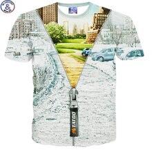 Mr.1991 marque magique zipper 3D impression t-shirt pour enfants d'été de style à manches courtes col rond enfants t-shirt filles garçons DT16