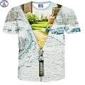 Mr.1991 marca mágica cremallera de impresión 3D camiseta para los niños del estilo del verano de manga corta cuello redondo camiseta de los niños muchachos de las muchachas DT16
