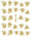 6 PACKS / LOT oro / plata agua pegatinas etiquetas del clavo metálicas uñas conejo de pascua huevo pirata gatito gato SYT139-144