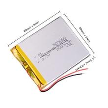 3.7V 2000mAh 505060 Lithium Polymer Li-Po li ion Rechargeable Battery Lipo cells For interphone Bluetooth speaker PDA POS GPS