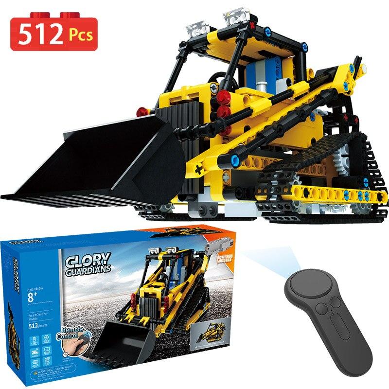 Controle remoto Veículos Montados Modelo LegoINGLYS Technic Blocos Tijolos de Máquinas de Engenharia Sem Fio Rádio Brinquedos Para Meninos