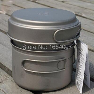 Titanium cubiertos se cocina 2-3 personas establecen campamento portátil utensil