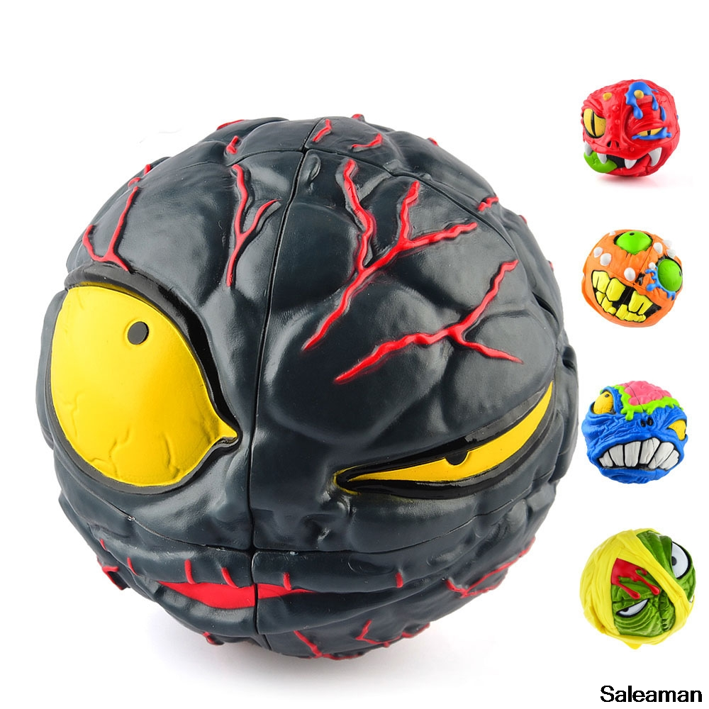 Funny 3D Monster Head Magic Puzzle Speed Cube MADHEDZ series Toys for children and Puzzlers cubo magico 6 styles