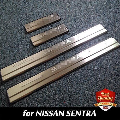 For NISSAN SENTRA 2012 2013 2014 2015 2016 Stainless Steel Door Sill Scuff Plate Door Si ...