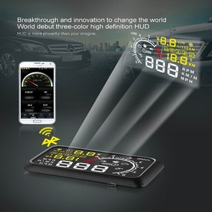 Image 3 - Car Head UP Display Auto Hud For OBDII And EUOBD 5.5 Inches Windshield Projector Alarm System Overspeed Alarm