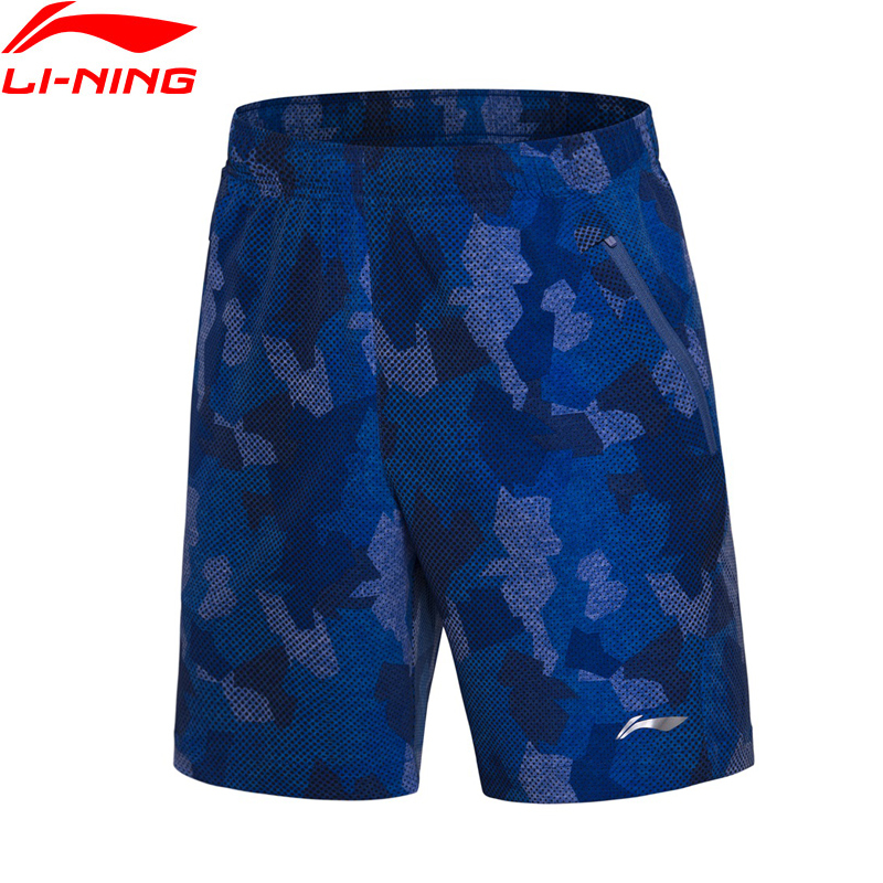 Li-Ning Men Badminton Competition Breathable Sport Shorts 91.1% Polyester 8.9% Spandex LiNing Comfort Sports Shorts AAPN035 Q155