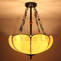 European tifany style Tiffany Lamp Art Glass penant light for bedroom dining room bar hanging lighting
