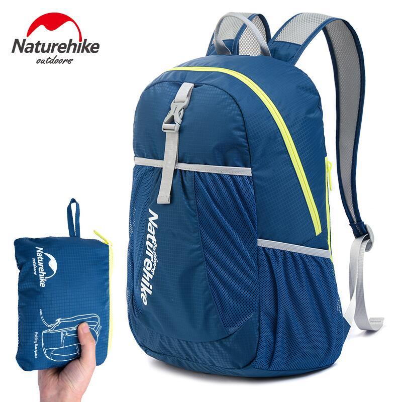 Naturehike plegable bolsas de deporte mochila hombres mujeres al aire libre moch