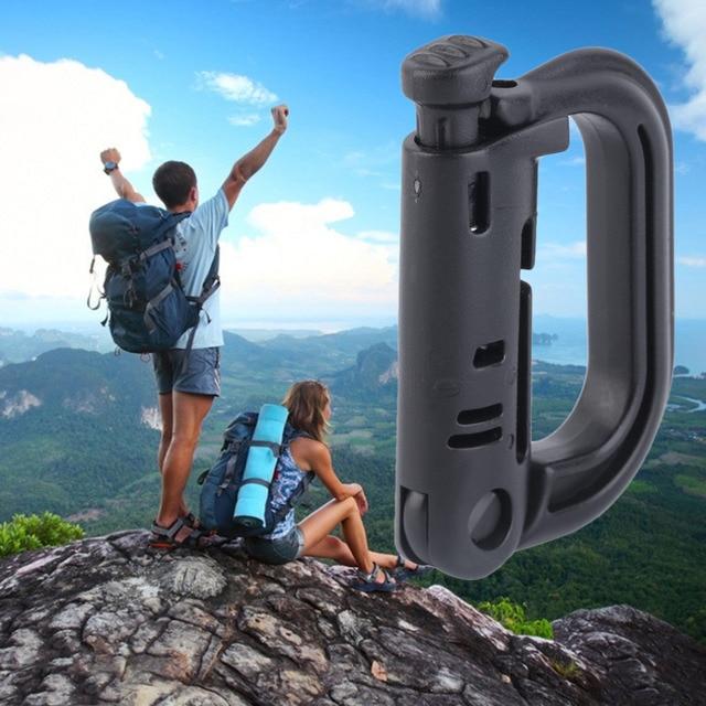 Tactical Backpack Carabiner Snap D-Ring Clip KeyRing Locking Hiking Camping free shipping