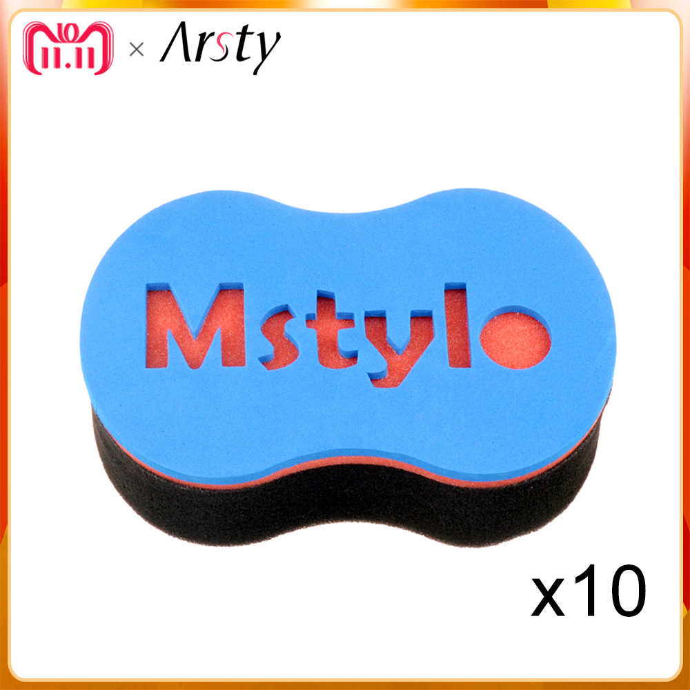 ARSTY 10pcs/lot magic twist hair sponge,hair curl sponge brush for natural hair,afro coil wave sponge brushes coil hair tie 6pcs