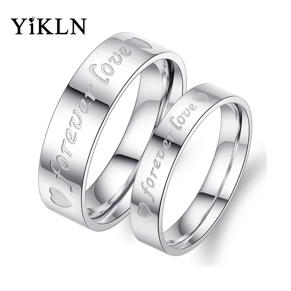 d87d873e74 Detail Feedback Questions about YiKLN Customized Engraved Couple Rings  Jewelry For Lover Stainless Steel Forever Love Romatic Ring Valentine's Day  Gift ...