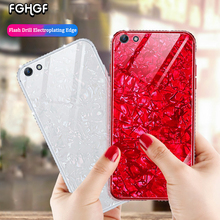 FGHGF Flash Drill Case For OPPO R15X K1 R7S Cover For OPPO A7X F9 Pro Shell  Tempered Glass Cover For
