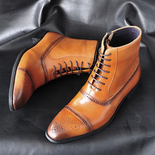 Luxury Design Men Boots Glossy Men Ankle Boots High Grade Martin Zipper Coffee Black Shoes Basic Boots Men