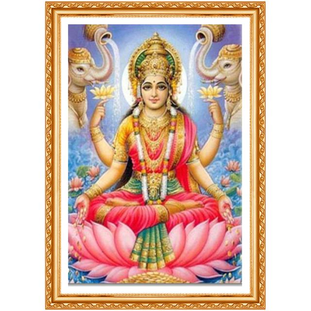3d full diamond painting God of wealth diamond embroidery Lakshmi square diamond Elephant picture of rhinestones