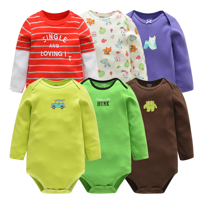 Random Delivery Baby Boy Clothes Jumpsuit Baby Romper Autumn Long Sleeve Newborn Clothing Cotton Boys Girls Toddler Roupas Bebe