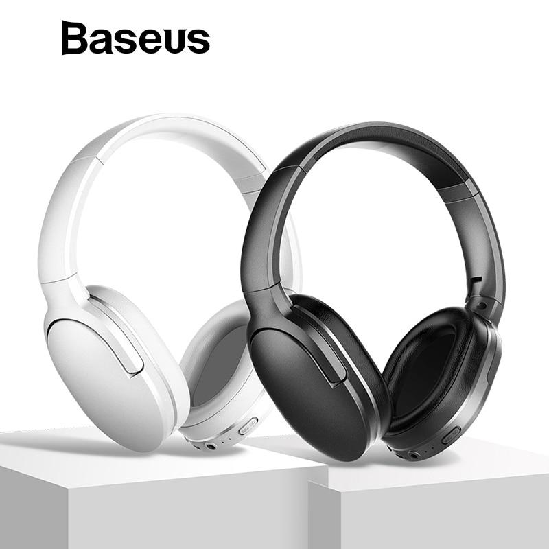 Baseus D02 Bluetooth Headphone, Adjustable & Foldable 25 Hours Music Play Wireless Earphone Portable Bluetooth Earphone with Mic