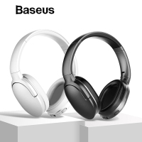 Baseus D02 Bluetooth Headphone, Adjustable & Foldable 25 Hours Music Play Wireless Earphone Portable Bluetooth Earphone with Mic