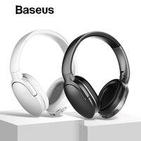 Baseus D02 Bluetooth Headphone, Adjustable & Foldable 25 Hours Music Play Wireless Earphone Portable Bluetooth Earphoe with Mic