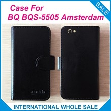 Hot!6 Colors BQ BQS-5505 Amsterdam Case, High Quality Original Leather Exclusive Cover For BQ BQS-5505 Amsterdam Tracking