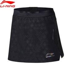 Распродажа) Li-Ning Женская юбка для настольного тенниса, шорты, Стандартная посадка для сборной, подкладка для соревнований, спортивные шорты ASKN038 WKQ065