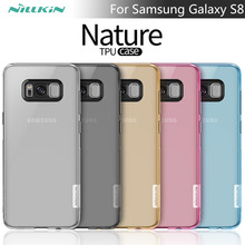 For samsung s8 case Nillkin nature Transparent Clear Soft silicon TPU Protector case cover For Samsung Galaxy S8 phone cases