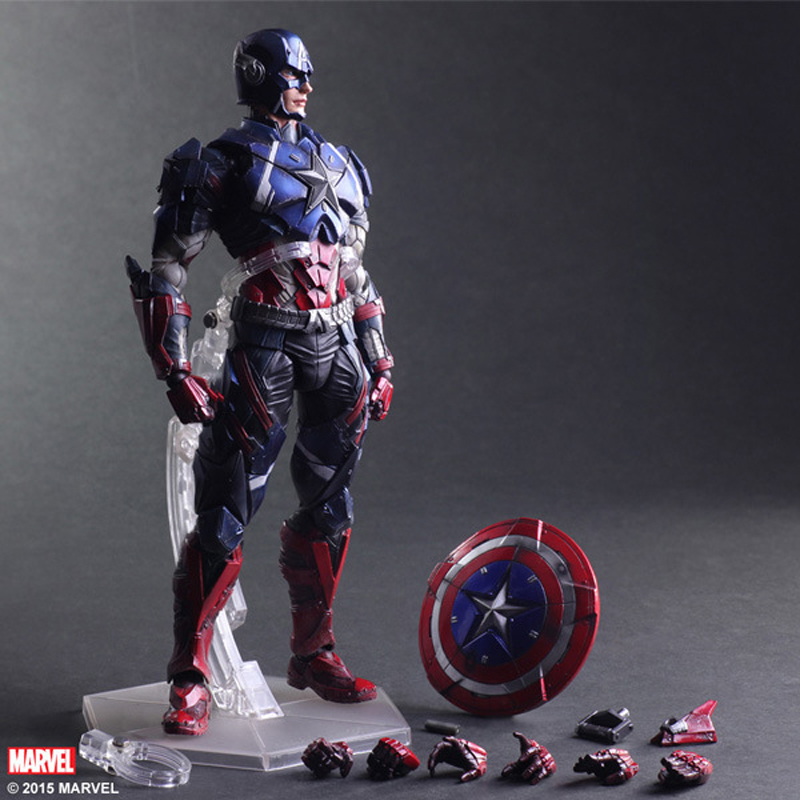 Play Arts Marvel Avengers Captain America Action Figure Collection PA Model Doll Toys 10 26cm картридж для лазерного принтера brother tn2175