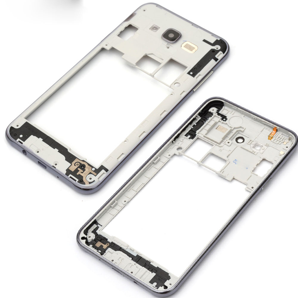 Soopom Replacement Parts For Samsung Galaxy J7 2015 J700 Middle Frame Bezel Back plate Housing Case Cover+Camera Lens