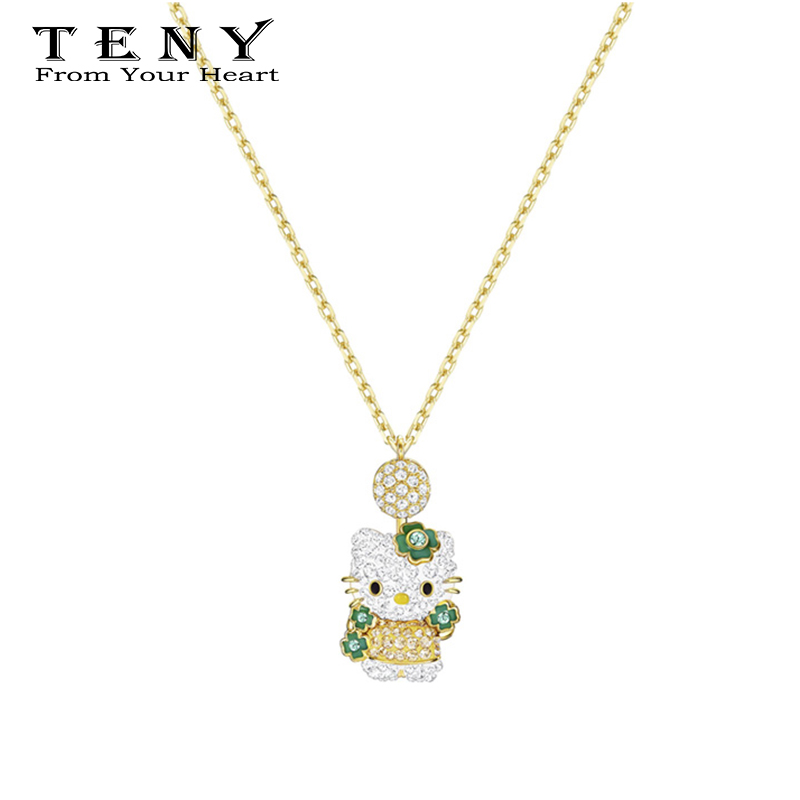 Hello Kitty Pendant ALP Detail Feedback Questions about TENY Swa HELLO KITTY Pendant Necklace  Sterling Silver Original 1:1 High Quality Women Jewelry First Choice Free  Package Mail ...