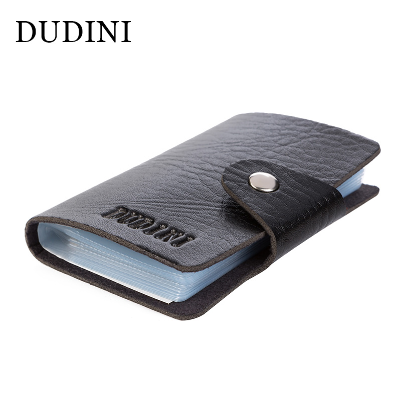 DUDINI Hot Sale New Men's Women Leather Credit Card Holder/Case Card Holder Wallet Business Card Package PU Leather Bag new luxury pu leather wallet business vintage credit card holder back cover case for iphone x s
